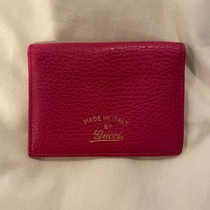 Gucci Hot Pink Card Holder